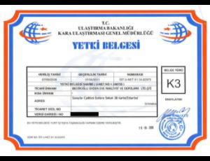 k3-belgesi BEDİR